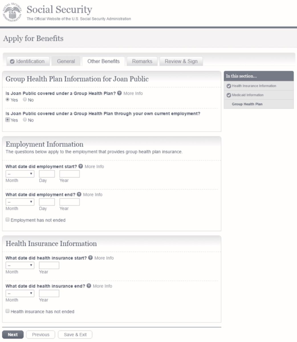 Original Medicare signup online page step 5