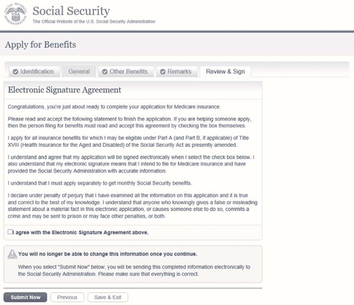 Original Medicare signup online page step 6